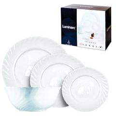 Набор посуды столовый «Trianon», 20 предметов, белое стекло, LUMINARC