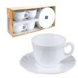 Набор посуды чайный LUMINARC «Trianon», 4 кружки по 280 мл, 4 блюдца, белое стекло