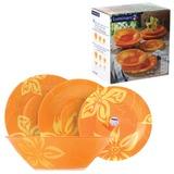 Набор посуды столовый LUMINARC «Lily Flower», 18 предметов, оранжевые узоры