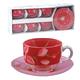 Набор посуды чайный LUMINARC «Red Orchis», 6 кружек по 220 мл, 6 блюдец, красные узоры