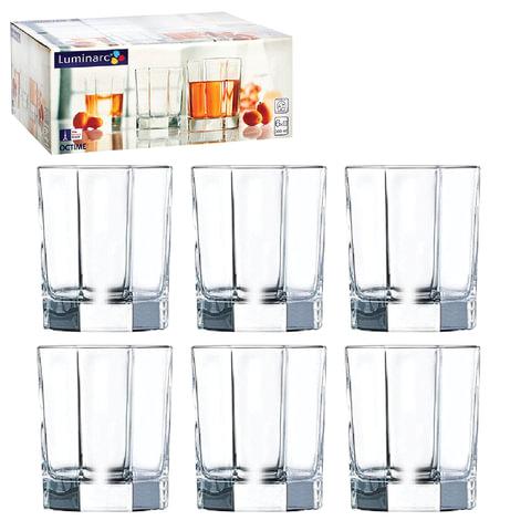 Набор посуды стаканы для сока, виски LUMINARC «Octime», 6 шт., 300 мл, низкие, стекло