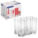 Набор посуды стаканы для сока, виски LUMINARC «Octime», 6 шт., 330 мл, высокие, стекло