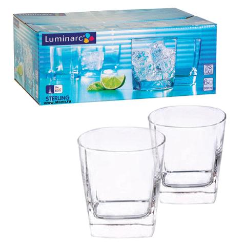 Набор посуды «Sterling», стаканы для сока/<wbr/>виски, 6 шт., 300 мл, низкие, стекло, LUMINARC