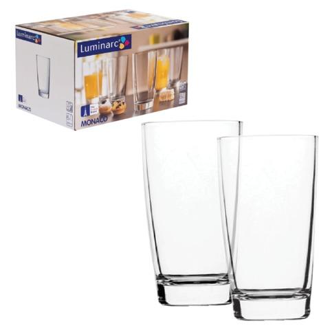 Набор посуды стаканы для сока, виски LUMINARC «Monaco», 6 шт., 250 мл, низкие, стекло