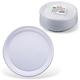 Одноразовые тарелки «Стандарт», десертные d=170 мм, комплект 100 шт., ЛАЙМА, белые, ПП, для холодного/<wbr/>горячего