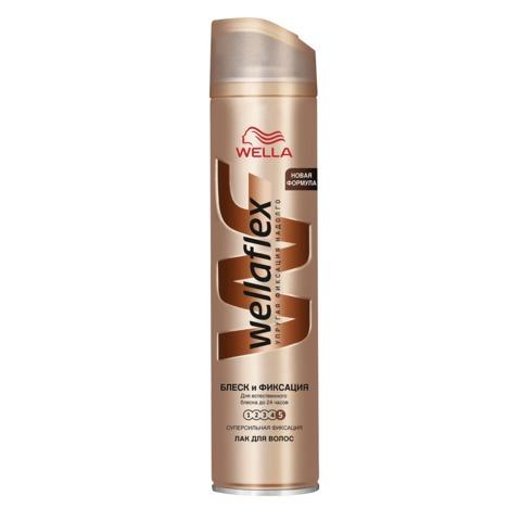 Лак для волос 250 мл, WELLAFLEX (Веллафлекс) «Блеск», суперсильная фиксация