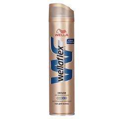Лак для волос 250 мл, WELLAFLEX (Веллафлекс) «Объем до 2-х дней», экстрасильная фиксация