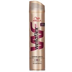 Лак для волос 250 мл, WELLAFLEX (Веллафлекс) «Сияние цвета», сильная фиксация
