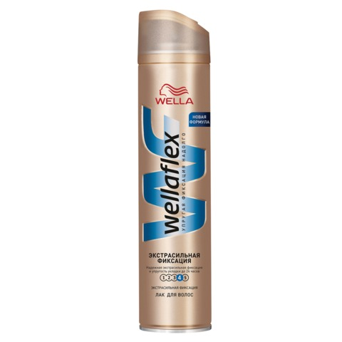 Лак для волос 250 мл, WELLAFLEX (Веллафлекс) «Экстрасильная фиксация»