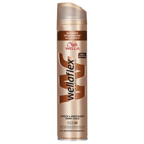 Лак для волос 400 мл, WELLAFLEX (Веллафлекс) «Блеск», суперсильная фиксация