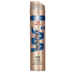 Лак для волос 400 мл, WELLAFLEX (Веллафлекс) «Объем до 2-х дней», экстрасильная фиксация