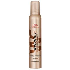Мусс для волос 200 мл, WELLAFLEX (Веллафлекс) «Блеск», суперсильная фиксация