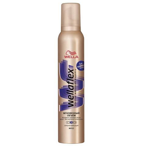 """Мусс для волос 200 мл, WELLAFLEX (Веллафлекс) """"Мгновенный объем"""", экстрасильная фиксация"""