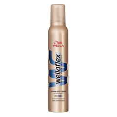 Мусс для волос 200 мл, WELLAFLEX (Веллафлекс) «Объем до 2-х дней», экстрасильная фиксация
