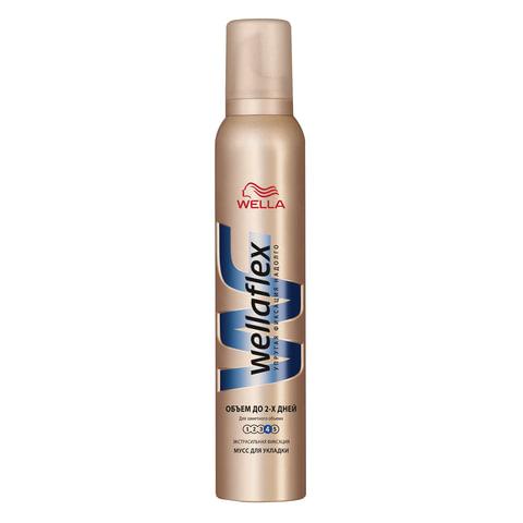 """Мусс для волос 200 мл, WELLAFLEX (Веллафлекс) """"Объем до 2-х дней"""", экстрасильная фиксация"""
