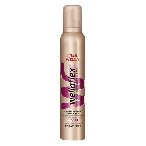 Мусс для волос WELLAFLEX (Веллафлекс), 200 мл, «Суперсильная фиксация»
