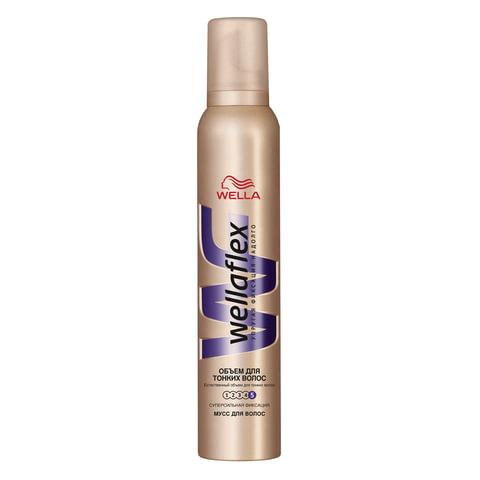 Мусс для волос WELLAFLEX (Веллафлекс), 200 мл, «Объем для тонких волос», суперсильная фиксация