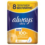 Прокладки женские гигиенические ALWAYS (Олвейс) «Ultra Light», 40 шт., ароматизированные