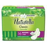Прокладки женские гигиенические NATURELLA (Натурелла) «Classic Camomile Maxi», 16 шт.