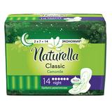 Прокладки женские гигиенические NATURELLA (Натурелла) «Classic Camomile Night», 14 шт.
