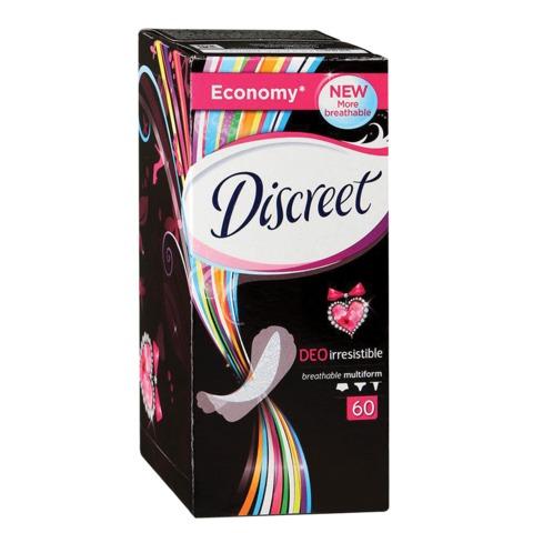 """Прокладки женские гигиенические на каждый день DISCREET (Дискрит) """"Deo Irresistible"""", 60 шт."""