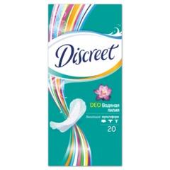 Прокладки женские гигиенические на каждый день DISCREET (Дискрит) «Deo Water Lily», 20 шт.