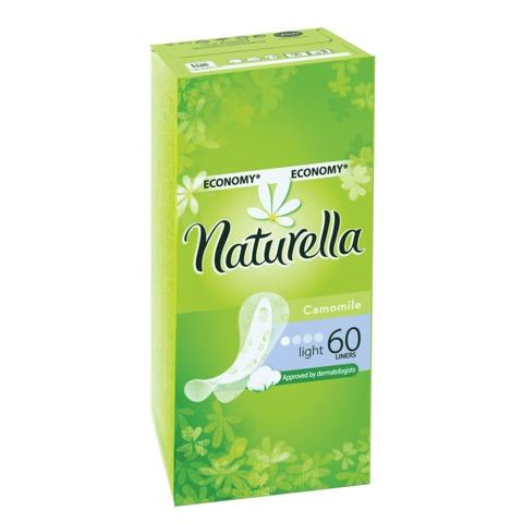 """Прокладки женские гигиенические на каждый день NATURELLA (Натурелла) """"Camomile Light"""", 60 шт."""