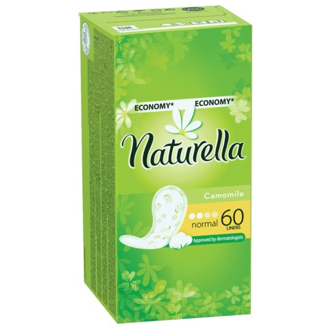 Прокладки женские гигиенические на каждый день NATURELLA (Натурелла) «Camomile Normal», 60 шт.