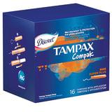 Тампоны женские гигиенические TAMPAX (Тампакс) «Compak Super Plus», 16 шт., с аппликатором