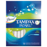 Тампоны женские гигиенические TAMPAX (Тампакс) «Discreet Pearl Super», 18 шт., с аппликатором