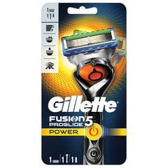 Бритва GILLETTE (Жиллет) «Fusion ProGlide Power», с 1 сменной кассетой, для мужчин