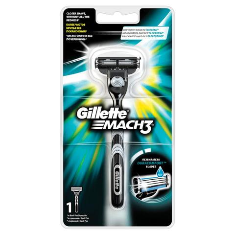 Бритва GILLETTE (Жиллет) «Mach3», с 1 сменной кассетой, для мужчин