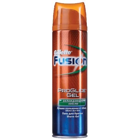 Гель для бритья GILLETTE (Жиллет) Fusion, 200 мл, «Cooling», охлаждающий, для мужчин