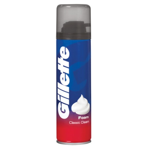 """Пена для бритья 200 мл, GILLETTE (Жиллет) """"Classic Clean"""", чистое бритье, для мужчин"""