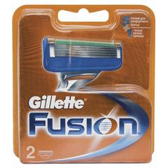 Сменные кассеты для бритья 2 шт., GILLETTE (Жиллет) «Fusion», для мужчин