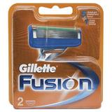 Сменные кассеты для бритья GILLETTE (Жиллет) «Fusion», 2 шт., для мужчин