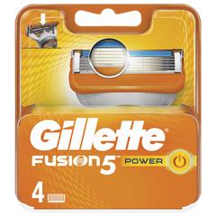 Сменные кассеты для бритья 4 шт., GILLETTE (Жиллет) «Fusion», для мужчин