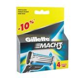Сменные кассеты для бритья GILLETTE (Жиллет) «Mach3», 4 шт., для мужчин