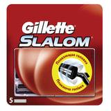 Сменные кассеты для бритья GILLETTE (Жиллет) «Slalom», 5 шт., для мужчин