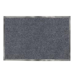 Коврик входной ворсовый влаго-грязезащитный ЛАЙМА/<wbr/>ЛЮБАША, 90×120 см, ребристый, толщина 7 мм, серый