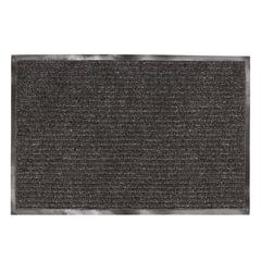 Коврик входной ворсовый влаго-грязезащитный ЛАЙМА/<wbr/>ЛЮБАША, 90×120 см, ребристый, толщина 7 мм, черный