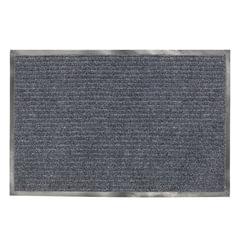Коврик входной ворсовый влаго-грязезащитный ЛАЙМА, 120×150 см, ребристый, толщина 7 мм, серый