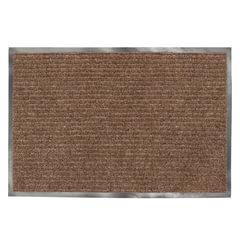 Коврик входной ворсовый влаго-грязезащитный ЛАЙМА, 120×150 см, ребристый, коричневый