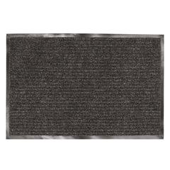 Коврик входной ворсовый влаго-грязезащитный ЛАЙМА, 120×150 см, ребристый, толщина 7 мм, черный