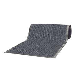 Коврик-дорожка ворсовый влаго-грязезащитный ЛАЙМА, 120×1500 см, ребристый, толщина 7 мм, серый