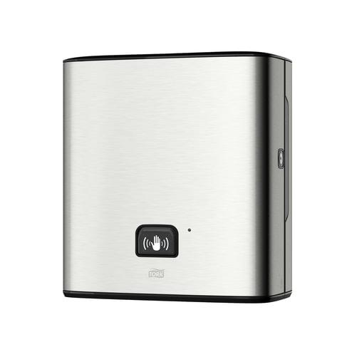 Диспенсер для полотенец TORK (H1) Matic, в рулонах, сенсорный, батарейка R20, металлический, полотенца 127828, 126734