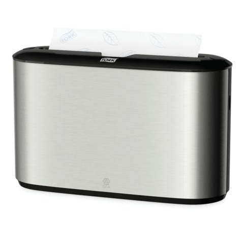 Диспенсер для полотенец TORK (H2) Image Design, Multifold, настольный, металлический, полотенца 127830 — 831