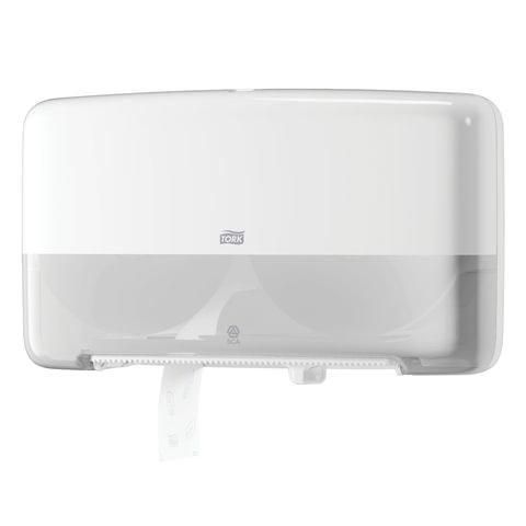 Диспенсер для туалетной бумаги TORK (T2) Elevation mini, двойной, белый, бумага 124543, -545, 127833, 555500