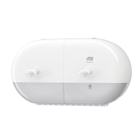 Диспенсер для туалетной бумаги TORK (T9) SmartOne, двойной, mini, белый, бумага 126504, 682000