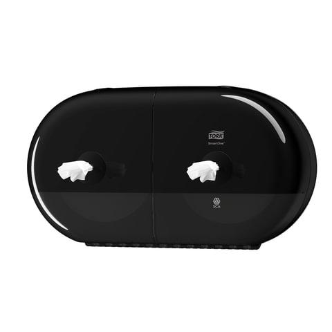 Диспенсер для туалетной бумаги TORK (Система T9) SmartOne, двойной, mini, черный, 682008